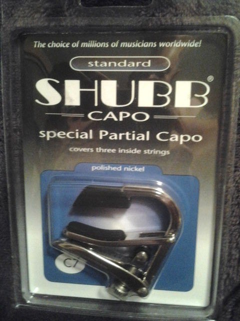 Shubb C7 Special Partial Guitar Capo Covers 3 inside Strings, Nickel Capotraste<br>