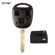 KEYYOU 3 Buttons Remote Key Shell For Toyota YARIS HIACE COROLLA AVENSIS CAMRY with logo