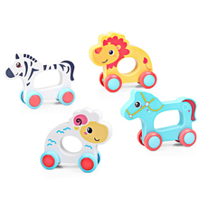 Animal Paradise Funny Anti-fall Animal Sheep Horse Lion Zebra Inertia Car Baby Children Early Education Toys Birthday Gifts