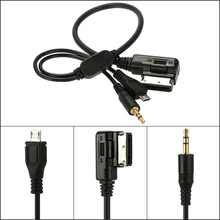 KKmoon 3.5mm Mini Jack Aux MP3 Cable USB Adapter Music AMI MMI Interface for Audi A3 A4 A5 A6 TT for VW Jetta GTI GLI Car Style(China)