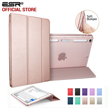 Case for iPad mini 1 2 3, ESR PU Leather Translucent Back Hybrid Soft Corner Slim Smart Cover color case for iPad mini 1 2 3