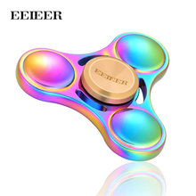 Fidget Spinner EEIEER Hand Spinner High Speed NSK R3 Bearing Titanium Alloy Toys Anxiety Stress Adults Kid Metal finger spinners(China)