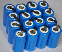16PCS UNITEK Sub C sc 1.2V rechargeable battery 2000mah ni-mh nimh cell with tab for power tools,vacuum cleaner