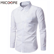 Buy Miicoopie Mens Dress Shirts 2017 Brand Male Fashion Camisa Social Masculina Cotton Solid Long Sleeve Slim Fit Business Shirt 3XL for $8.88 in AliExpress store