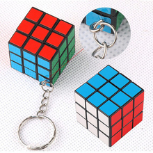 Hot Selling 2PCS/Pack Mini Magic Rubik Cube Keyring Puzzle Key Chain Speed Toy Fancy Gift For Men Women Creative Keychain 2MN155
