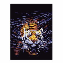 Animal Tiger Oil Painting By Numbers Acrylic Drawing On Canvas DIY Home Office Decor Wall Picture C42