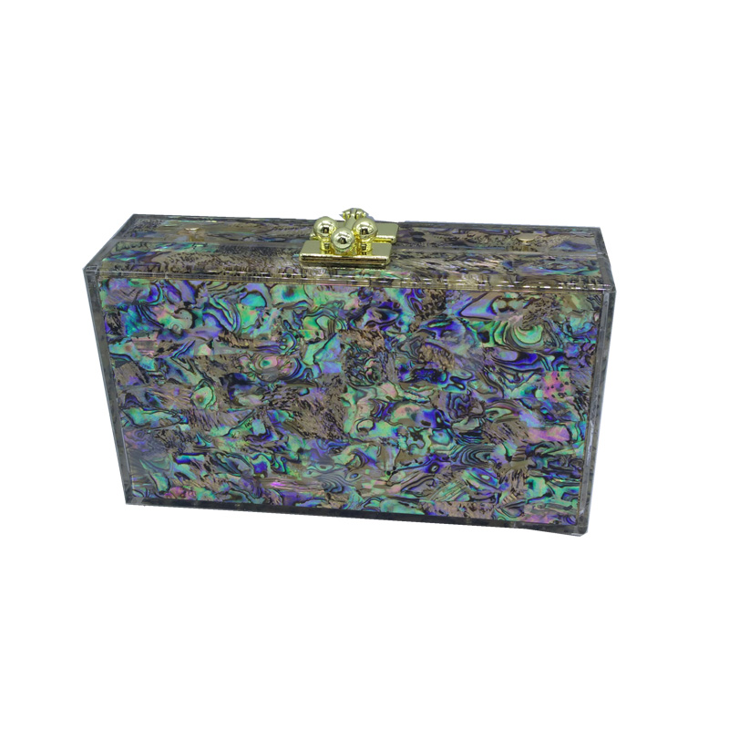 Wholesale Shell Hard Box Clutch Acrylic Evening Bags for Womens Party Wedding Bridal Clutch Wallet Acrylic Evening Clutches<br>