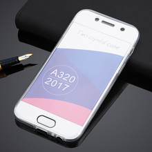 For Samsung Galaxy A3 2017/A5 2017/A7 2017 Full Body Clear TPU Soft Front Touch Screen Case Touch Transparent Front + Back Cover