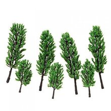 GSFY Wholesale Ensemale de Modeles des Arbres de pin pour Paysage de Train HO - 16PCS