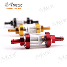 New Arrival Aluminum Alloy Petrol Fuel Filter Cleaner Fit 50cc 110cc 125cc 250cc Motorcycle Dirt Pit Bike Bike ATV Buggy Parts(China)