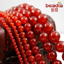 Pick Size 3mm 4mm 6mm 8mm 10mm 12mm Round Natural Stone Red Carnelian Dyed Beads For DIY Bracelet & Necklace Jewelry Findings