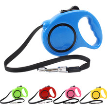 3M Retractable Dog Leash Extending Puppy Walking Leads One-handed Lock Training Adjustable Pet Collar for Dogs Cats