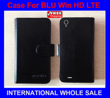 BLU Win HD LTE Case High Quality Factory Price Flip Leather Original Exclusive Case for BLU Win HD LTE Case tracking number(China)