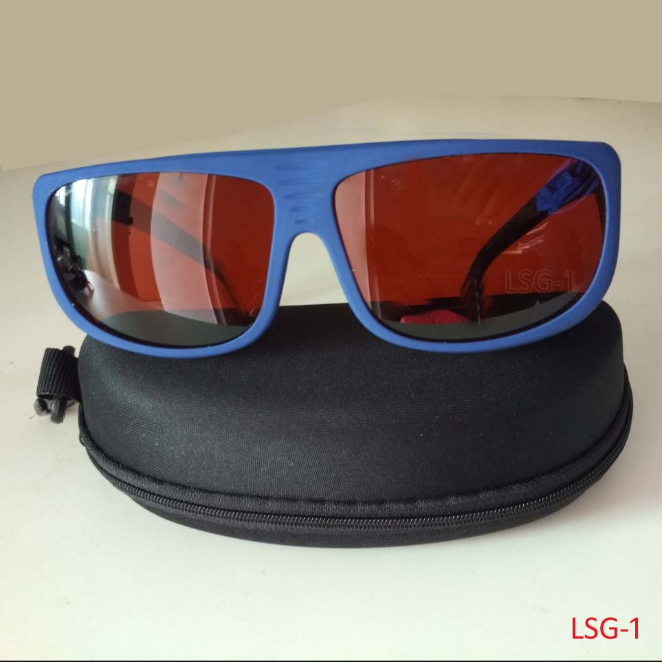 New blue frame EN207 laser safety glasses with O.D 4+ CE  for 190-540nm and 800-1700nm <br>