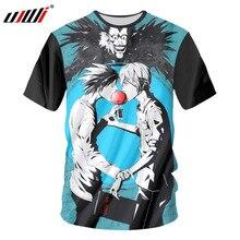 UJWI Anime T-shirts Hommes Drôle 3d Imprimer Death Note T-shirt Hombre Hip  Hop À Manches Courtes T-shirts Personnalisé Grande Ta.