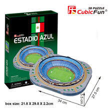 Cubic Fun 3D Football Field Puzzle Estadio Azul Cardboard Delicate Art 22*30*2.5 cm 92 PCS Collections Gift
