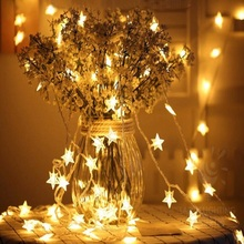 2.5M Romantic Fairy LED Lantern Star Curtain Light Curtain String Light Garland Light For Wedding Party Luminous props 5Z(China)