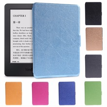 Ultra Slim Faux Leather Folio Flip Case Protective Shell Skin Cover For Amazon Kindle Paperwhite 1/2/3 6 Inch(China)