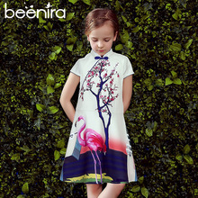 Beenira Girls Dresses 2017 New Brand European And American Style Children Cheongsam Sleeveless Design For 4-14Y Princess Dress