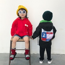 Aiqingsha 2017 Original Design Family Matching Clothes Mom Son Outfits Windbreaker with Hat Fashion Stick Zipper Hoody Jackets