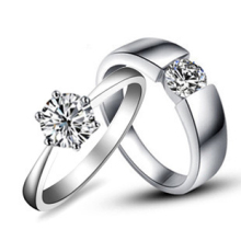Sincerely Love Couple Rings Diamond Engagement Jewelry For Lovers Sterling Silver Couple Rings Jewellery Pt950 Stamped