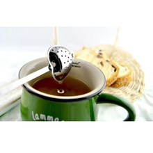 High Quality Spoon Strainer Steeper Handle Shower Heart Shaped Stainless Steel Tea Infuser Hot Sale