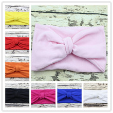 New hot little Girl Cotton Headwrap Turban Headband for Girl Hair Accessories kids Top Knot Headband 6pcs/lot