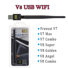 150Mbp Mini V8 WiFi USB tv receiver Adapter Wireless WiFi Adapter RT5370 Antenna WiFi Antenna Ethernet Dongle Adaptador WiFi