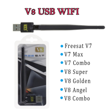 150Mbp Mini V8 WiFi USB tv receiver Adapter Wireless WiFi Adapter RT5370 Antenna WiFi Antenna Ethernet Dongle Adaptador WiFi(China)