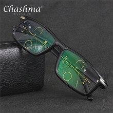 CHASHMA Marca Lente Multifocal Progressiva Óculos Homens Óculos De Grau  óculos de Leitura Hipermetropia Presbiopia Bifocal Óculo. 395e7034bf