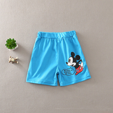 2016 New Pure Colors Casual Cotton mickey Shorts for boys girls Summer Beach Shorts pants boy girl clothes for 2-7years kids