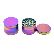 4 Layers Herb rainbow Grinder Pipes Smoking weed Utensils Tobacco Smoke Detectors Pipe Grinding Smoke Crusher Narguil-random
