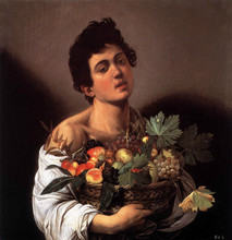 100 %hand-painted famous artists painting reproduction by Caravaggio handmade  oil painting Boy-with-a-Basket-of-Fruit