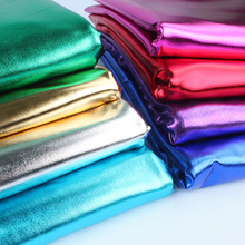 1 yard bronzing Spandex Fabric Material Christmas Decoration Stage Dancing Clothing glossy leather costume Dressing