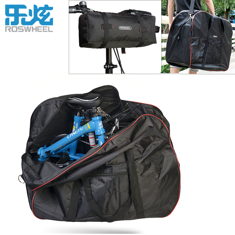 ROSWHEEL Folding Bike Loading Bag 420D Polyester Anti-tear Bicycle Carrier Bag Pack Storage Loading Package With Receive Bag<br>