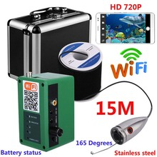 HD 1000TVL Camera Wifi Wireless 15M/20M/30M/50M Underwater Fishing Camera Video Recording For IOS Android APP Supports(China)