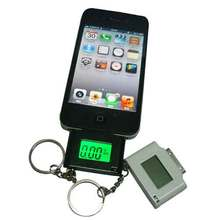 High Quality Cellphone alcohol tester mini breathalyzers for iPhone 4, black color dropship free shipping