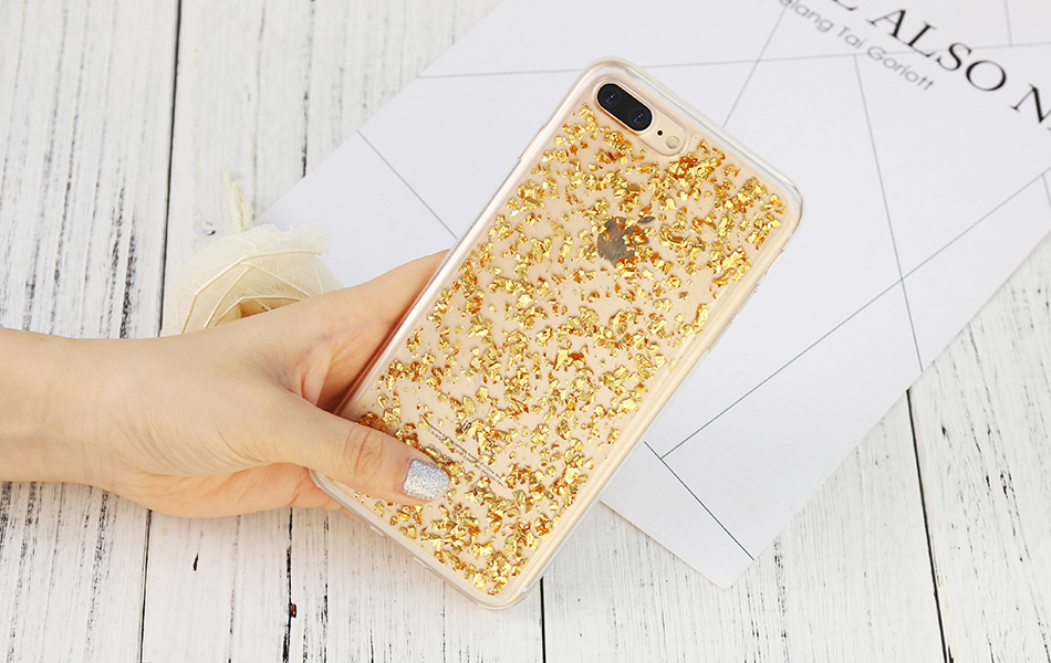DOEES For iPhone 7 6 6S Plus 5 5S SE Case Luxury Cute Glitter Clear Case For Samsung Galaxy S8 Plus S7 S6 Edge S5 Note 7 5 Back Cover (17)