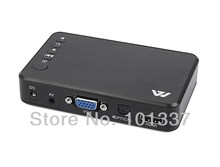 Free Shipping!JEDX MP023 Mini 1080P High Definition Media Player for TV (HDMI,VGA, USB, SD, AV) Optical output