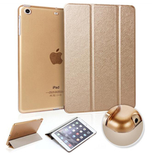 Luxury Flip Ultra thin Transparent Clear Smart Back Cover Stand Leather Case For Apple iPad Air 2/ iPad 6 Tablet