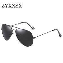 ZYXXSX Sunglasses Classic Style 3025 Pilot Sun glasses Fashion Glasses Women Men Polarized Sunglasses High quality(China)