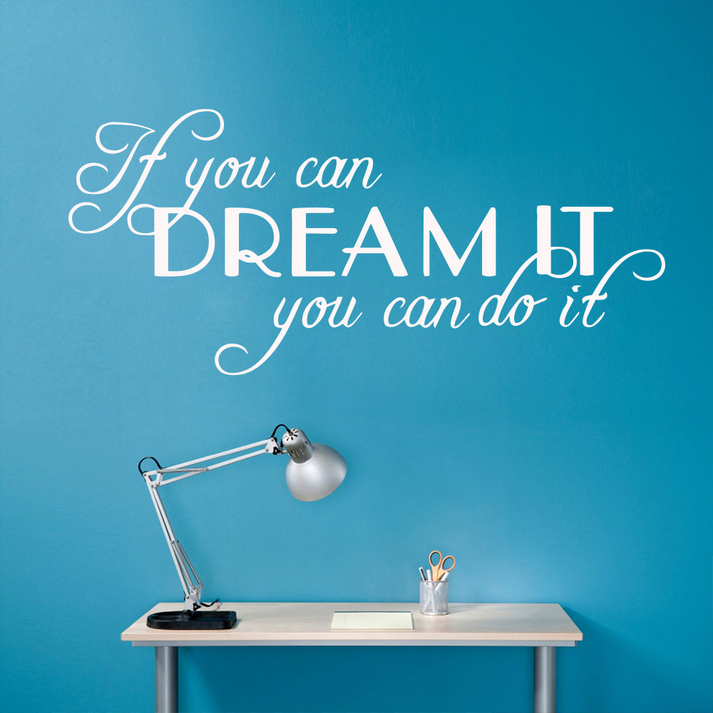 Motivating Phrase Quotes Wall Decals Sentence Wall Sticker Bedroom Living Room