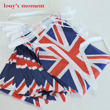 Free Shipping 15pcs/lot 5meters United Kingdom National Flag Home Party Decoration British Flag England Flags Banner(China)