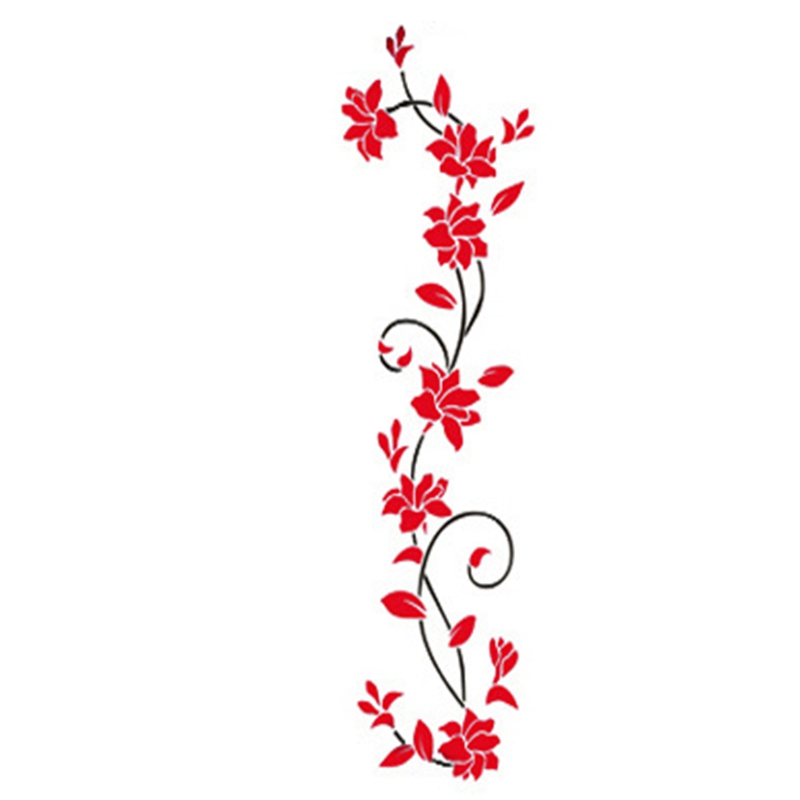 HTB1mZuhdf6H8KJjSspmq6z2WXXal - Hoomall Acrylic Flower Wall Stickers Poster New Year Decorations Removable Stickers for Kitchen DIY Wall Stickers for Kids Rooms