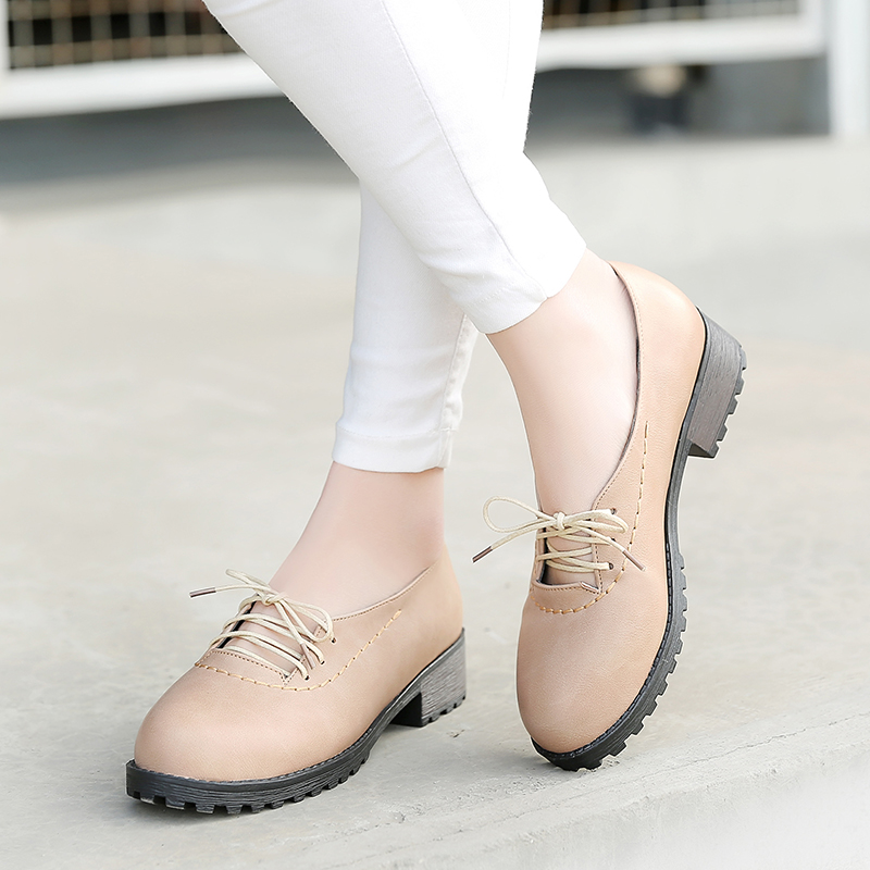 Spring Summer Lace-Up Single Women Shoes Korean Style College School Beautiful<br><br>Aliexpress
