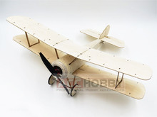 Free Shipping Sopwith Pup Balsa Wood 378mm Wingspan Biplane Warbird Aircraft Kit with Brushless Power System