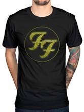 Official FF Foo Fighters Logo In Gold Circle T-Shirt Est 1995 New Merchandise Hip Hop Clothing Cotton Short Sleeve T Shirt(China)