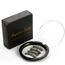 3 Magnet False Eyelash Extension Handmade 3D Magnetic Eyelashes Cilios Posticos Black Brown Long Fake Maquillaje Eye Lashes Kit(China)