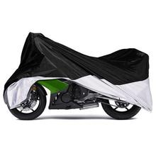 Partol L Big Size Outdoor Motorcycle Cover Black Electric Bike Covering 180T Scooter Rain Coat Anti UV Weatherproof 220*95*110cm(China)
