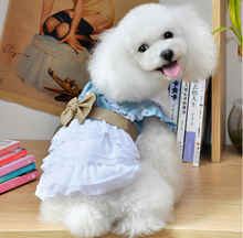 10pcs dogs cats summer style lace tutu dress doggy lovely princess bowknot party dresses puppy skirts costume pets clothes S-XXL